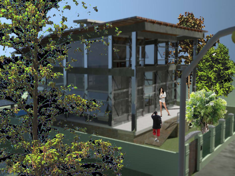DESIGN CENTER ARQUITETURA의  일세대용 주택