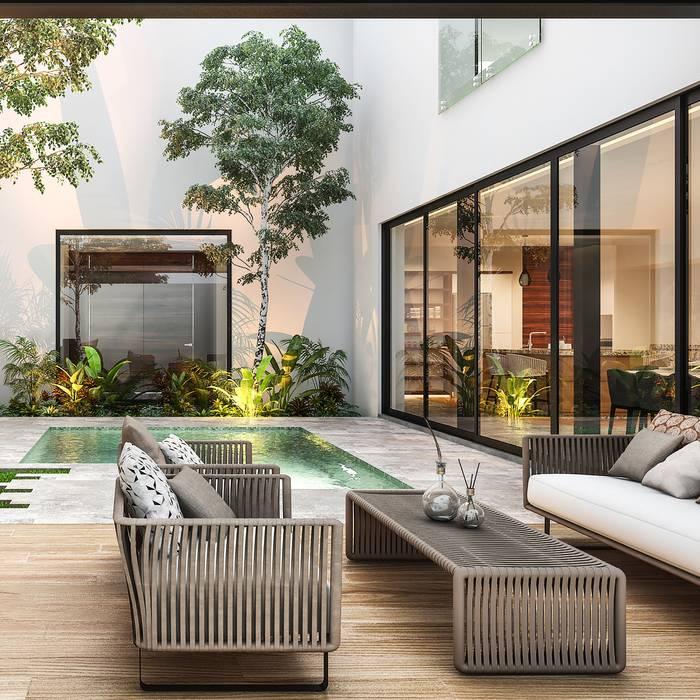 Casa Eliot: Terrazas de estilo  por Álvarez Bernés Arquitectura
