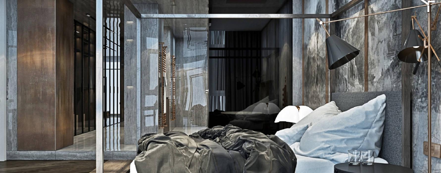 United States House by YØDEZEEN DelightFULL Small bedroom Copper/Bronze/Brass Black