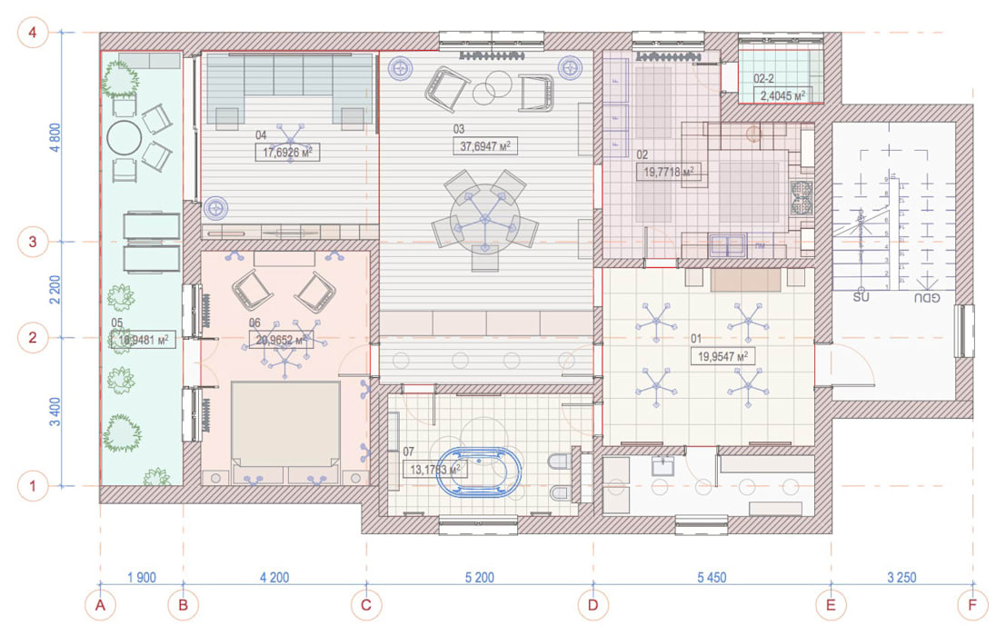 Апартаменты для двоих в Доломитах, Италия Appartamenti per coppie, Dolomiti.: Полы в . Автор – GK-STUDIO.RU, Эклектичный Дерево Эффект древесины