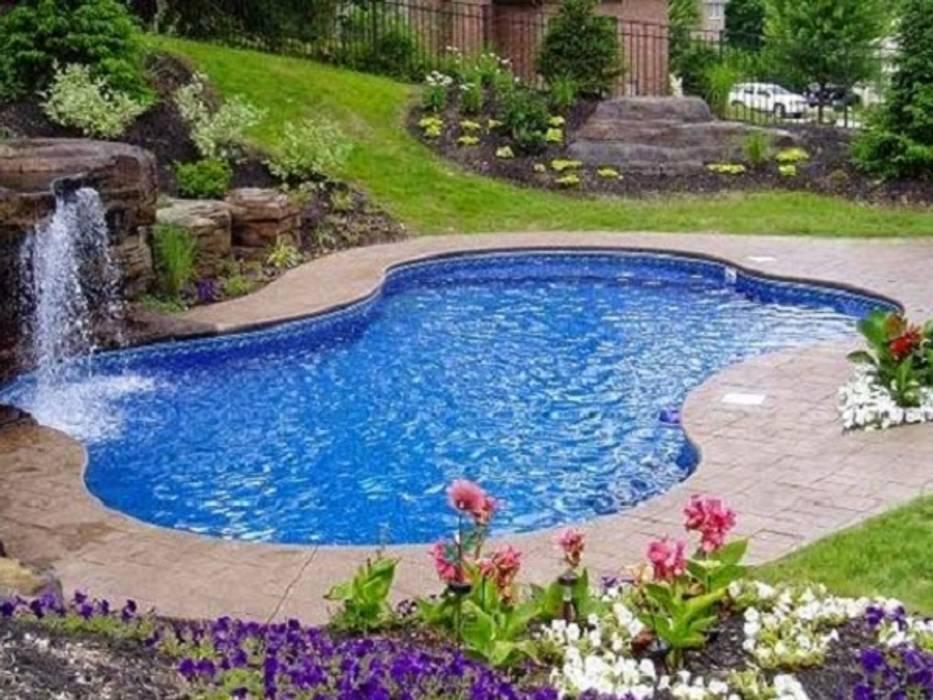 Garden Pool by Albercas Residenciales, Modern Tiles