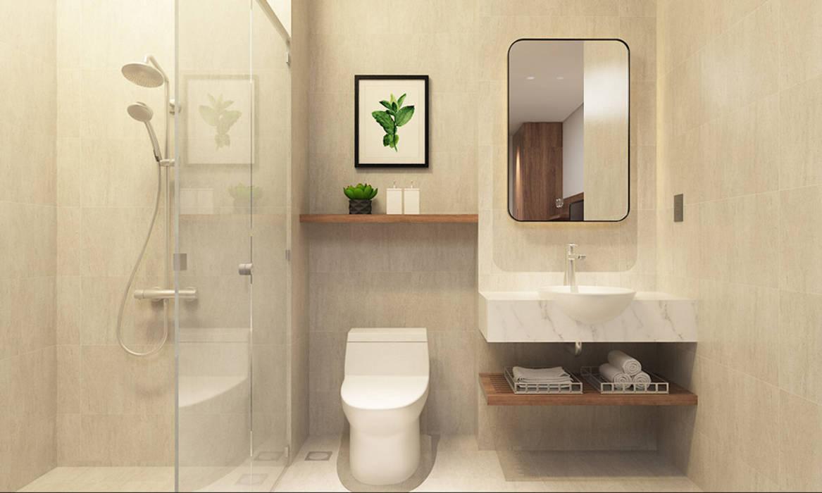 thiết kế nội thất phòng tắm khách sạn hiện đại Thanhlong Phòng tắm phong cách hiện đại bởi thiết kế khách sạn hiện đại CEEB Hiện đại