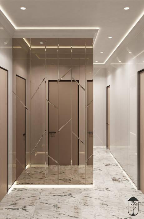隨意取材風玄關、階梯與走廊 根據 U-Style design studio 隨意取材風