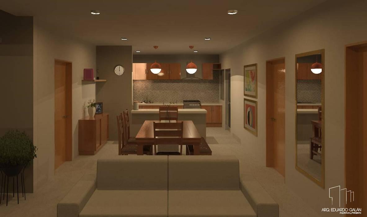 Modern Living Room by Arq Eduardo Galan, Arquitectura y paisajismo Modern