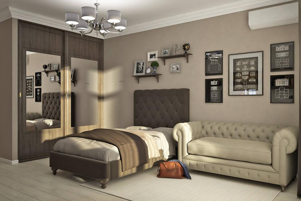 Квартира на ФМР: Спальни для мальчиков в . Автор – Мастерская дизайна INDIZZ