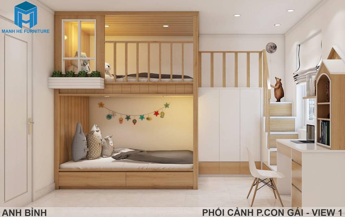 Designer Phòng ngủ phong cách hiện đại bởi Công ty TNHH Nội Thất Mạnh Hệ Hiện đại OSB