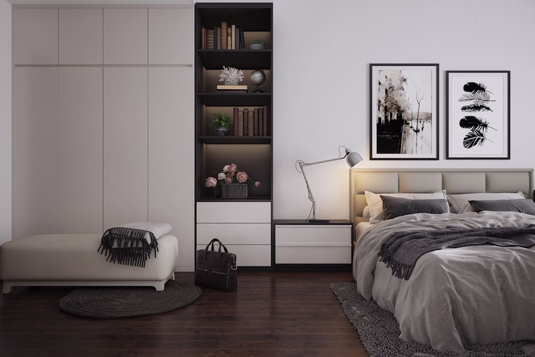 Walk in closets de estilo escandinavo de Kiến trúc Doorway Escandinavo Tablero DM
