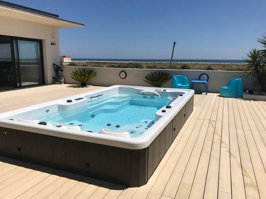 Гидромассажная ванна в . Автор – Aquavia Spa, Средиземноморский