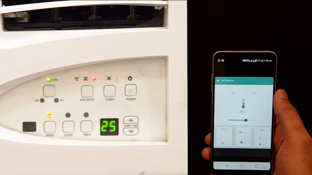 AC Temperature Control:  Bedroom by Urobo Home Automation