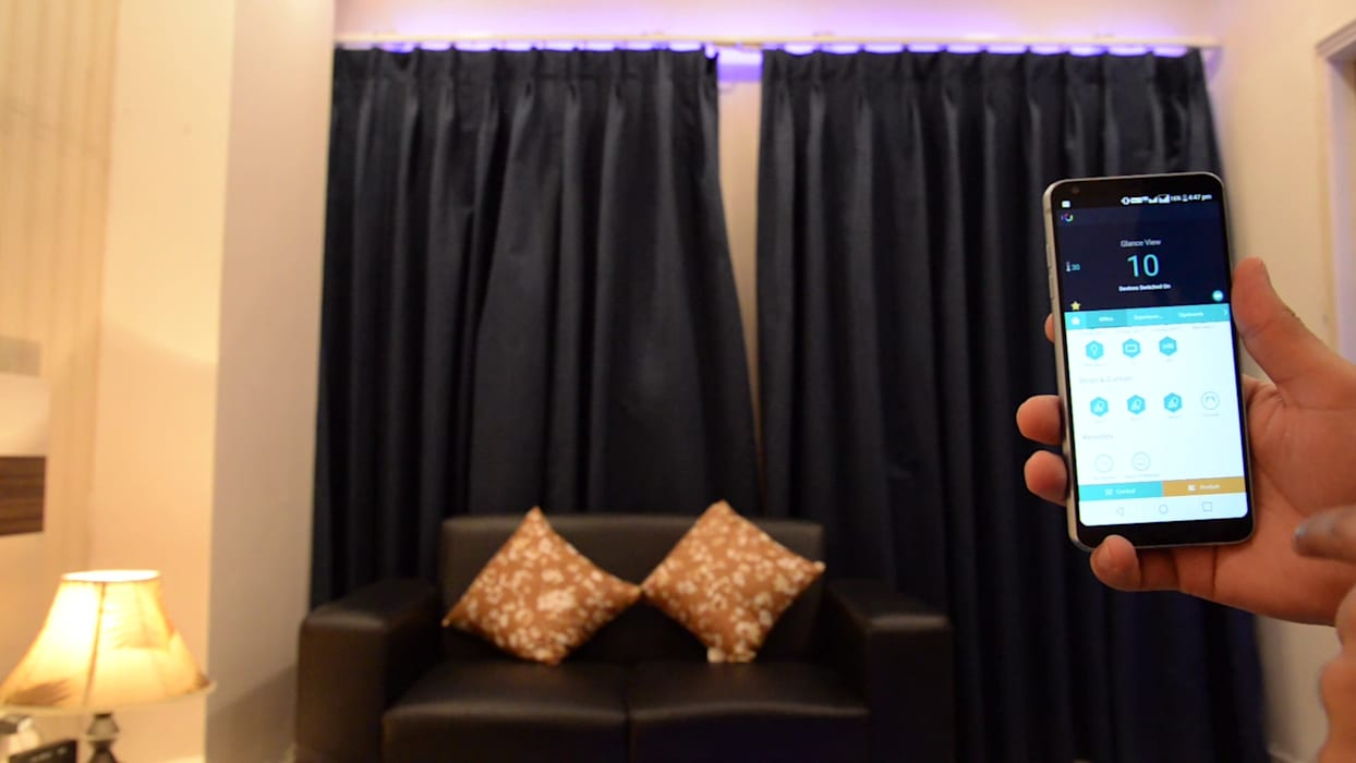 Curtain Automation:  Bedroom by Urobo Home Automation