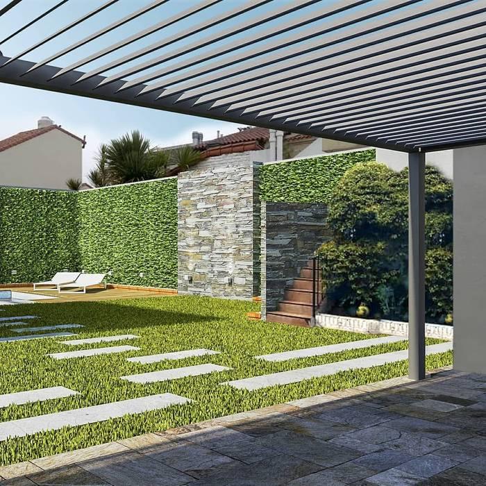 Piscina y parquizacion Jardines de invierno modernos de laura zilinski arquitecta Moderno
