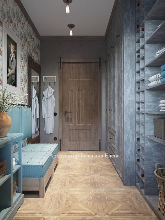 Sauna in stile  di Архитектурное Бюро 'Капитель', Industrial Legno Effetto legno