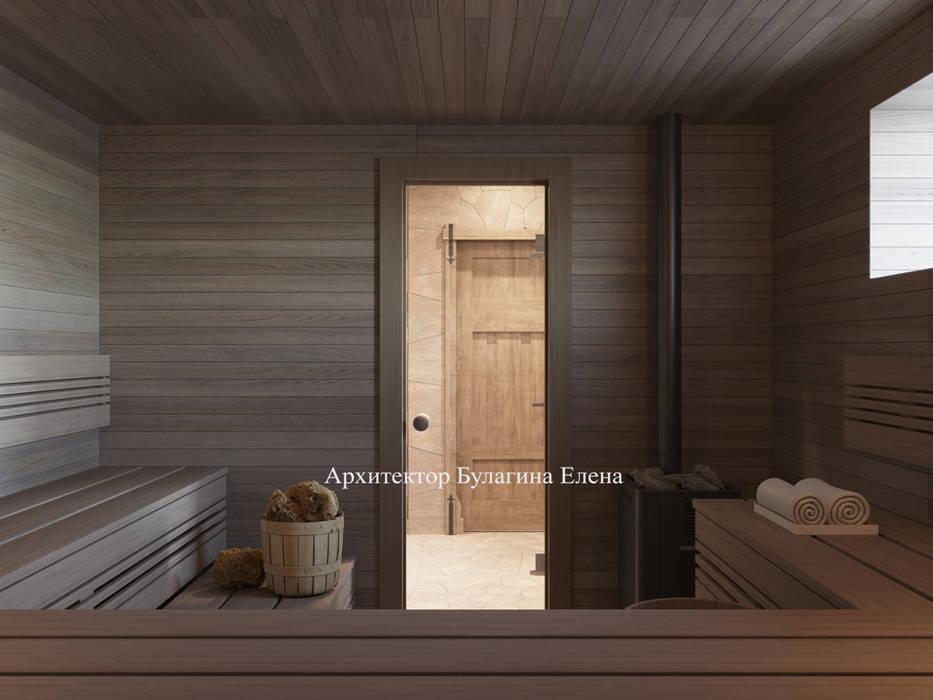 Saunas de estilo  de Архитектурное Бюро 'Капитель'