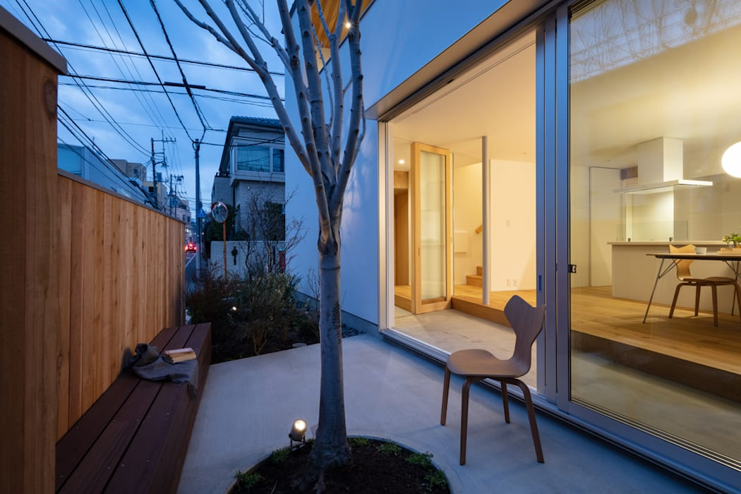 Modern Garden by hm+architects 一級建築士事務所 Modern Concrete