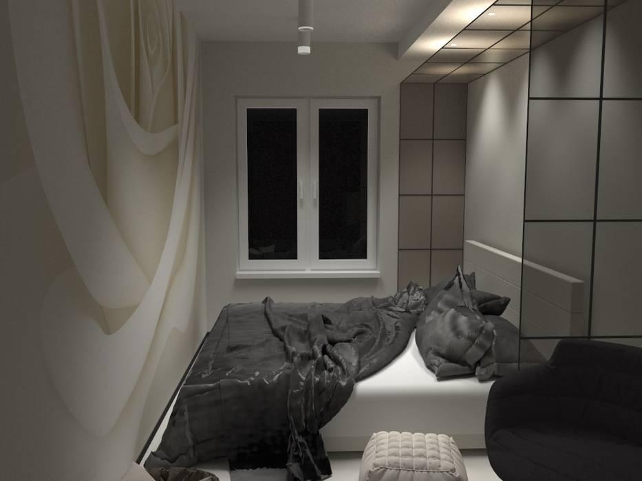 Sypialnia z garderobą d.b.mroz@onet.pl Nowoczesna sypialnia