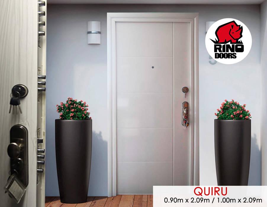 Modelo Quiru: Puertas principales de estilo  por Puertas y Blindajes, Moderno Metal