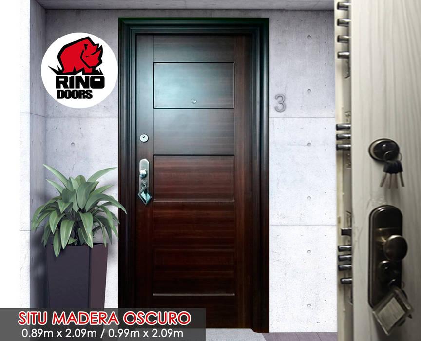 Modelo Situ: Puertas principales de estilo  por Puertas y Blindajes