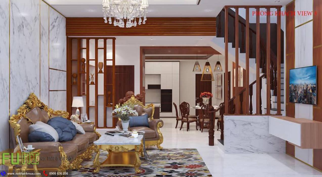 Phòng khách: cổ điển  by Công Ty TNHH Funi, Kinh điển