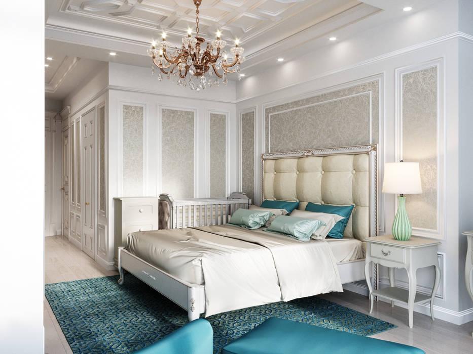 Kleines Schlafzimmer von Дизайн интерьера Киев|tishchenko.com.ua, Klassisch