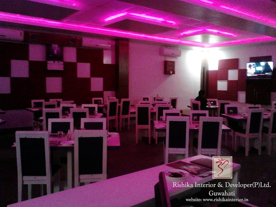 seating arrangement by Rishika Interior & Developer (p) Ltd. Modern