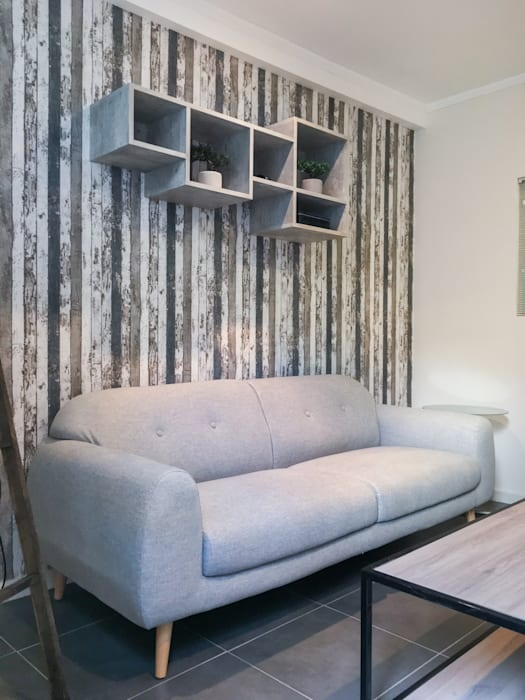 Estar minimalista: Livings de estilo  por R-Innovare / Diseño de interiores y Arquitectura / Santiago y Viña del mar