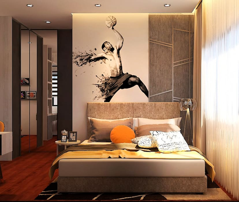 Pavilion Hilltop, Mont Kiara :  Bedroom by Norm designhaus, Modern