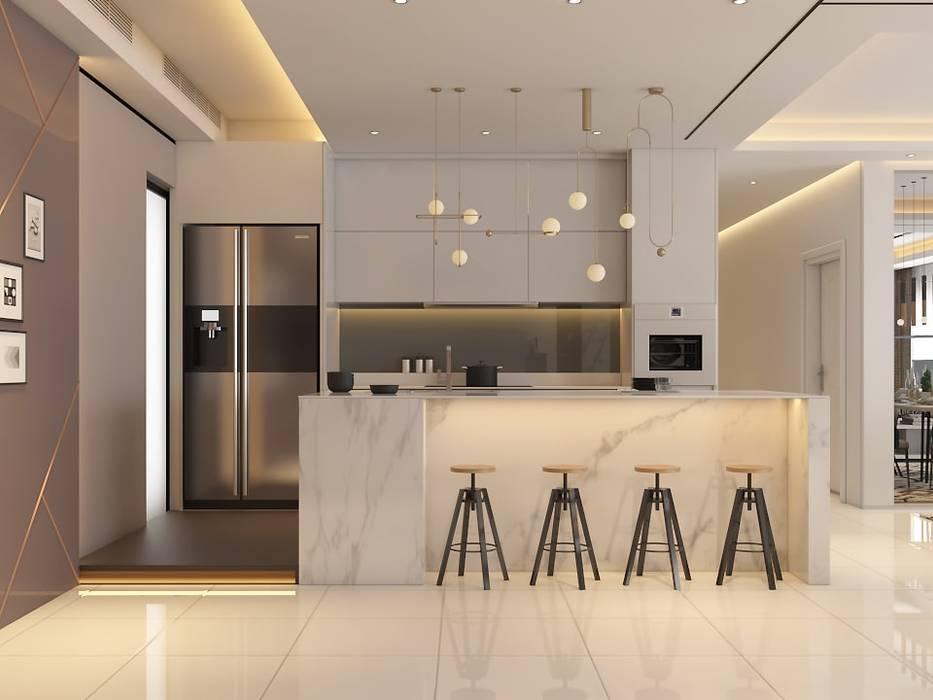 Pavilion Hilltop, Mont Kiara Modern style kitchen by Norm designhaus Modern