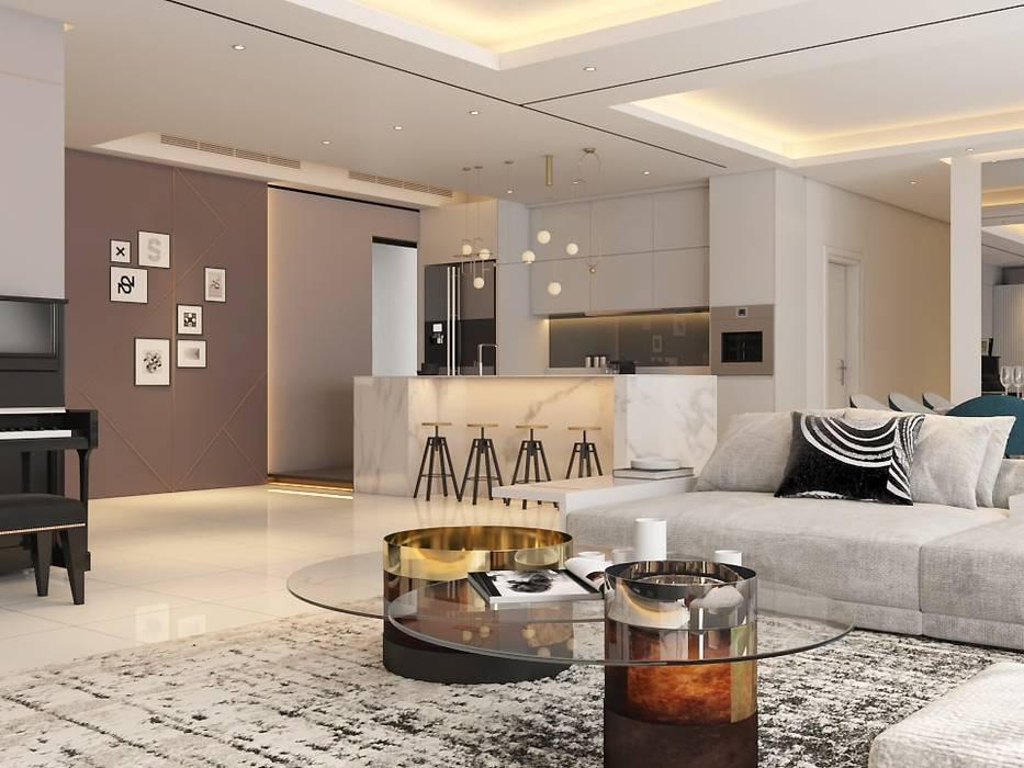 Pavilion Hilltop, Mont Kiara:  Living room by Norm designhaus,