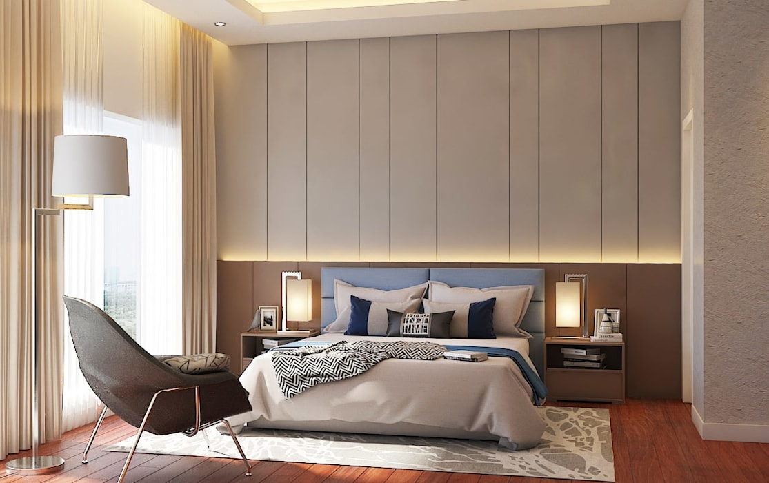 Pavilion Hilltop, Mont Kiara Modern style bedroom by Norm designhaus Modern