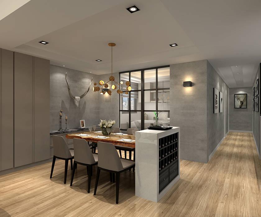百玥空間設計 ─ 凝聚 百玥空間設計 現代廚房設計點子、靈感&圖片 大理石 Grey