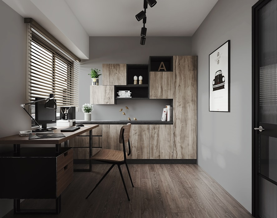 Study/office by 百玥空間設計
