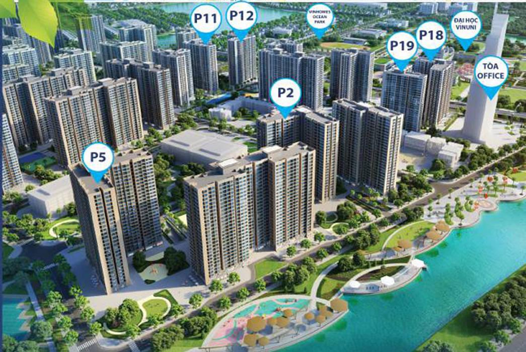 Dự án Vincity Ocean Park Nhà phong cách châu Á bởi công ty cổ phần bất động sản Newland Châu Á