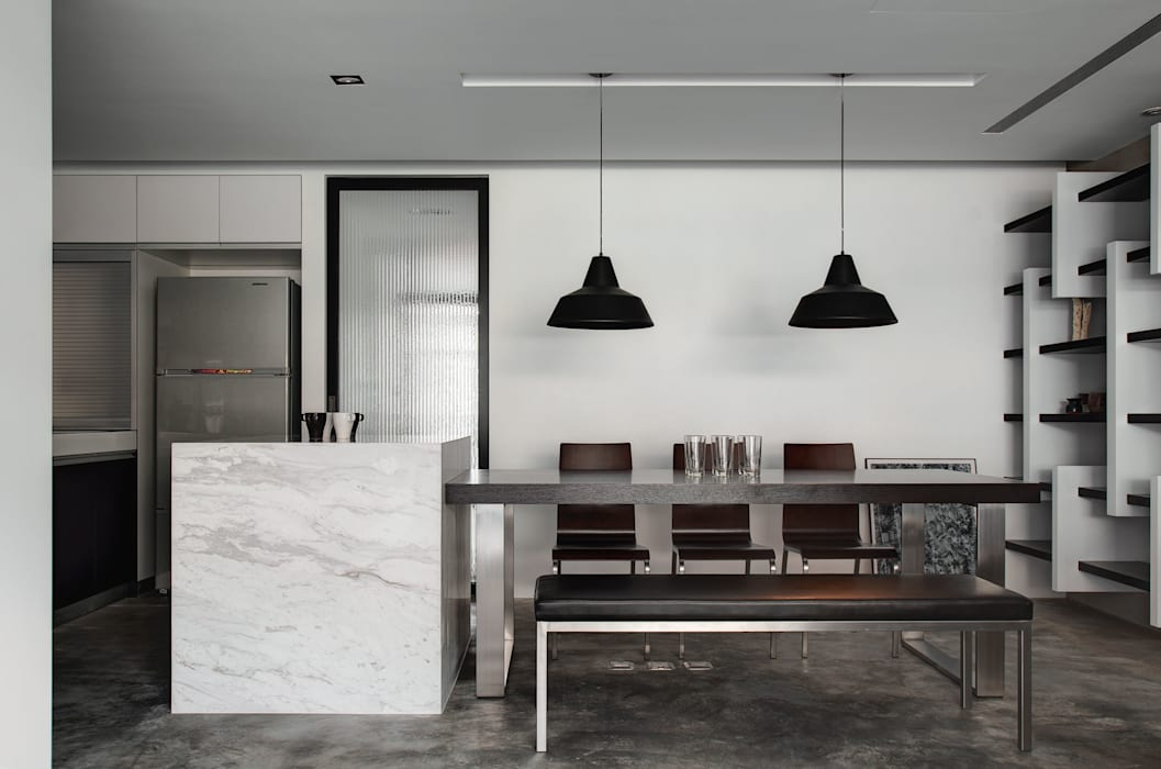 Industrial style dining room by 邑舍室內裝修設計工程有限公司 Industrial