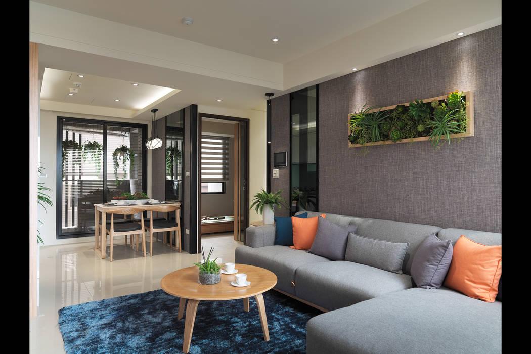 壁意盎然 现代客厅設計點子、靈感 & 圖片 根據 珍品空間設計 | JP SPACE DESIGN STUDIO 現代風