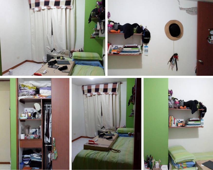 Remodelacíon habitación apartamento Pilarica/ Medellín de Decó ambientes a la medida
