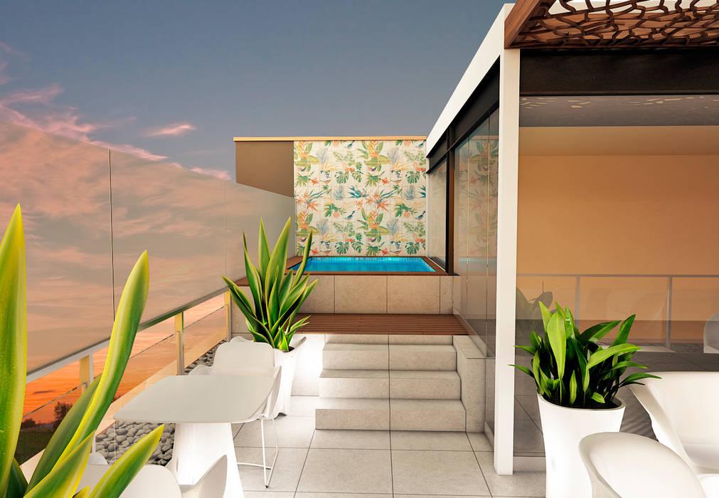 TERRAZA Luis Escobar Interiorismo Balcones y terrazas modernos