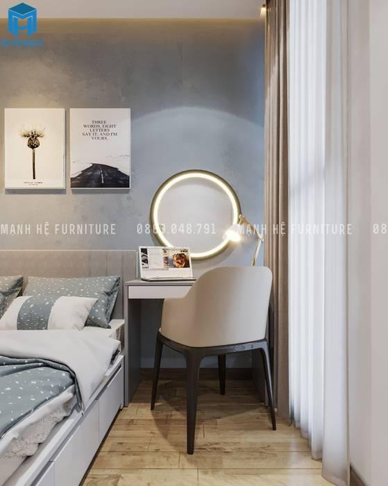Designer Công ty TNHH Nội Thất Mạnh Hệ Phòng ngủ nhỏ MDF Brown