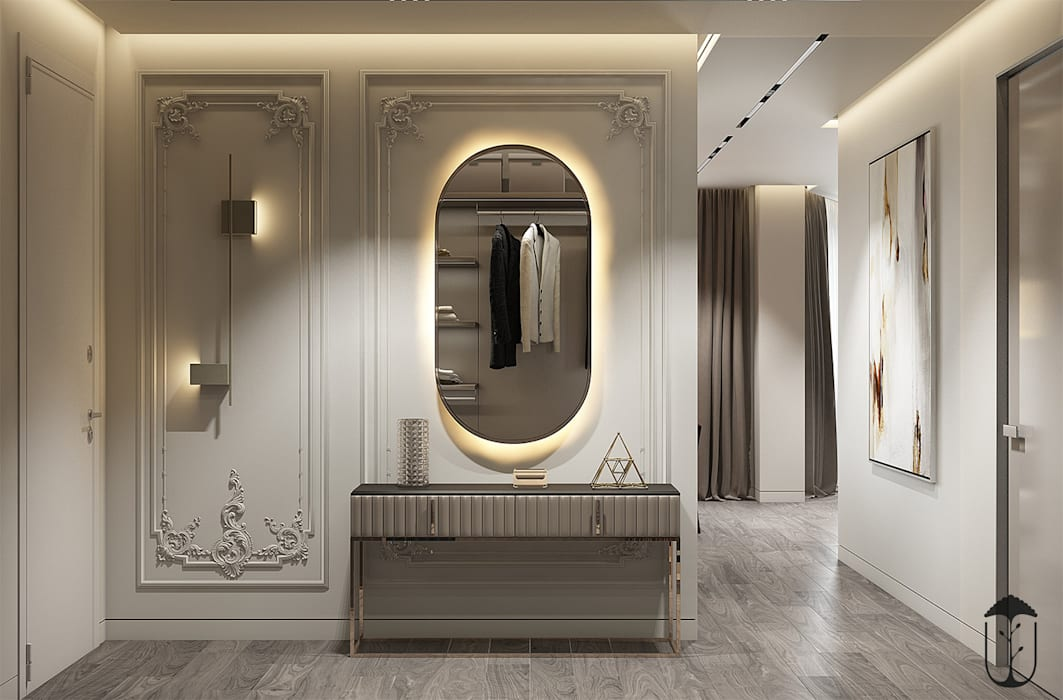 Pasillos, vestíbulos y escaleras de estilo ecléctico de U-Style design studio Ecléctico