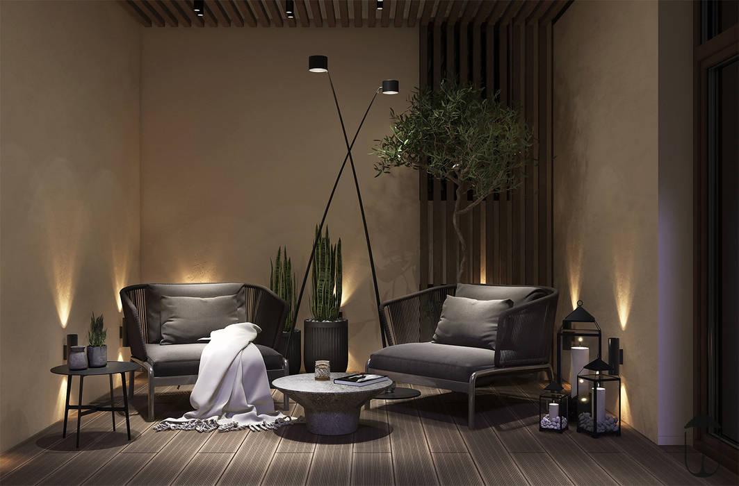 Balcones y terrazas de estilo ecléctico de U-Style design studio Ecléctico