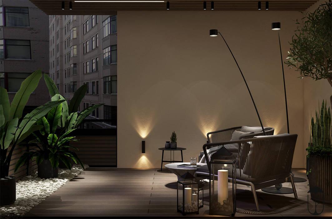 YOUSUPOVA Balcones y terrazas de estilo ecléctico