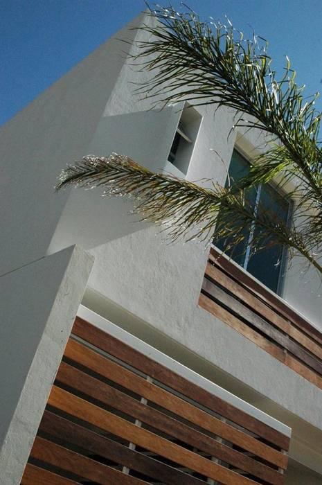 Taller A3 SC Casas unifamiliares Madera maciza Blanco