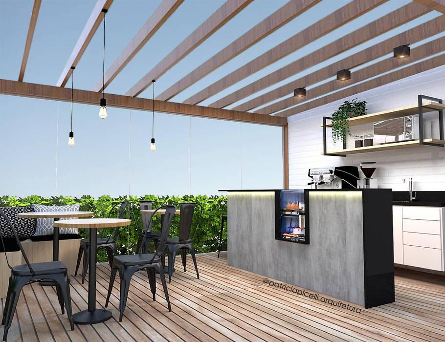Balcón de estilo  por Patricia Picelli Arquitetura e Interiores, Industrial