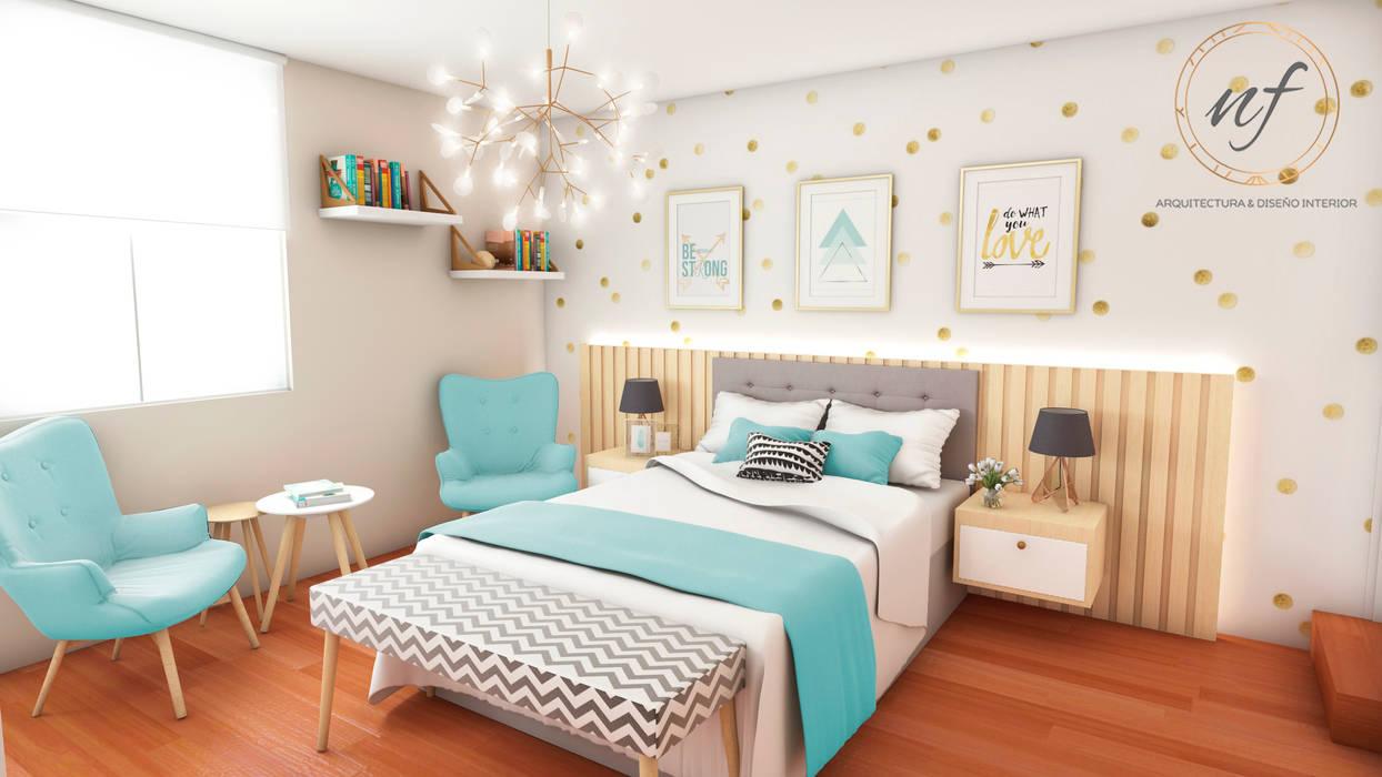 Proyecto residencial dormitorio jovencita dormitorios - Proyecto diseno de interiores ...
