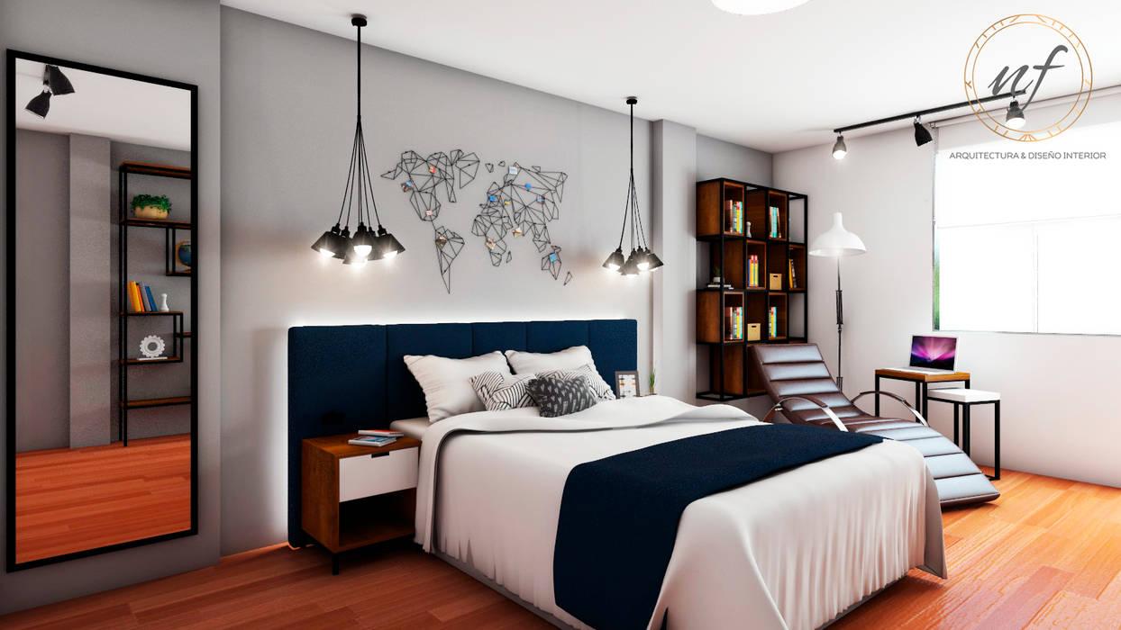 Bedroom by NF Diseño de Interiores ,