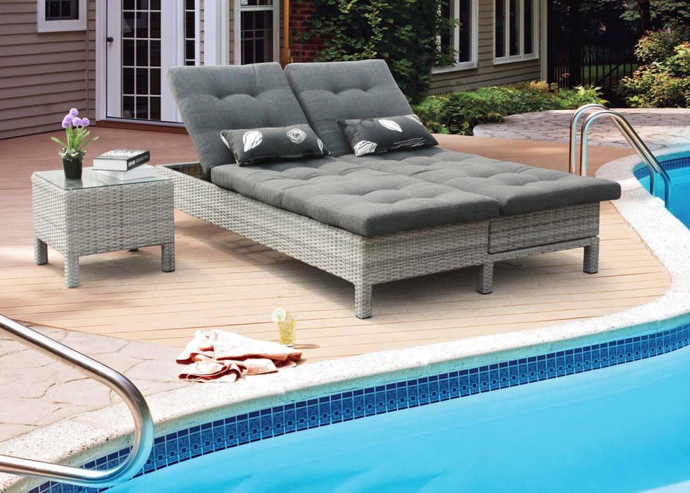 Espreguiçadeiras para relaxar: Terraços  por CRISTINA AFONSO, Design de Interiores, uNIP. Lda