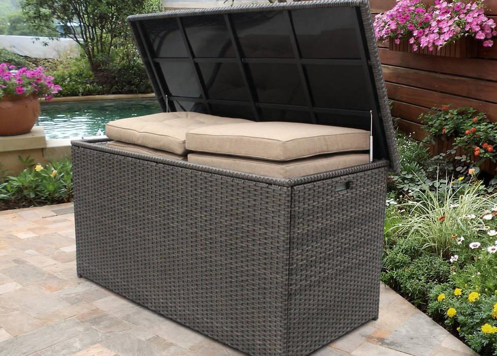 mobiliário de arrumos para outdoor: Jardim  por CRISTINA AFONSO, Design de Interiores, uNIP. Lda