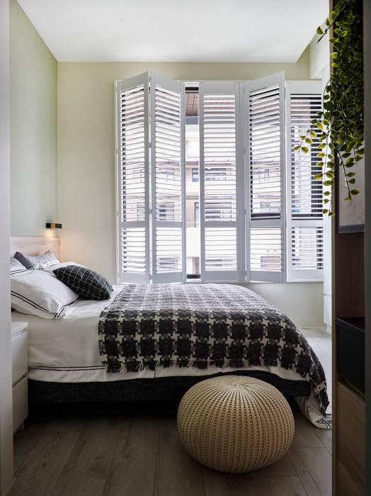 淺灰藍格:  窗戶 by 耀昀創意設計有限公司/Alfonso Ideas, 北歐風
