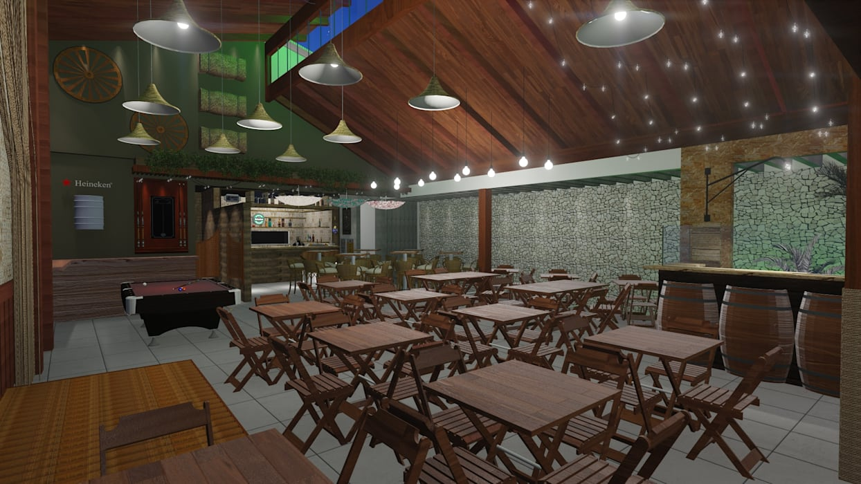 Rustic style bars & clubs by 88 Arquitetura Rustic