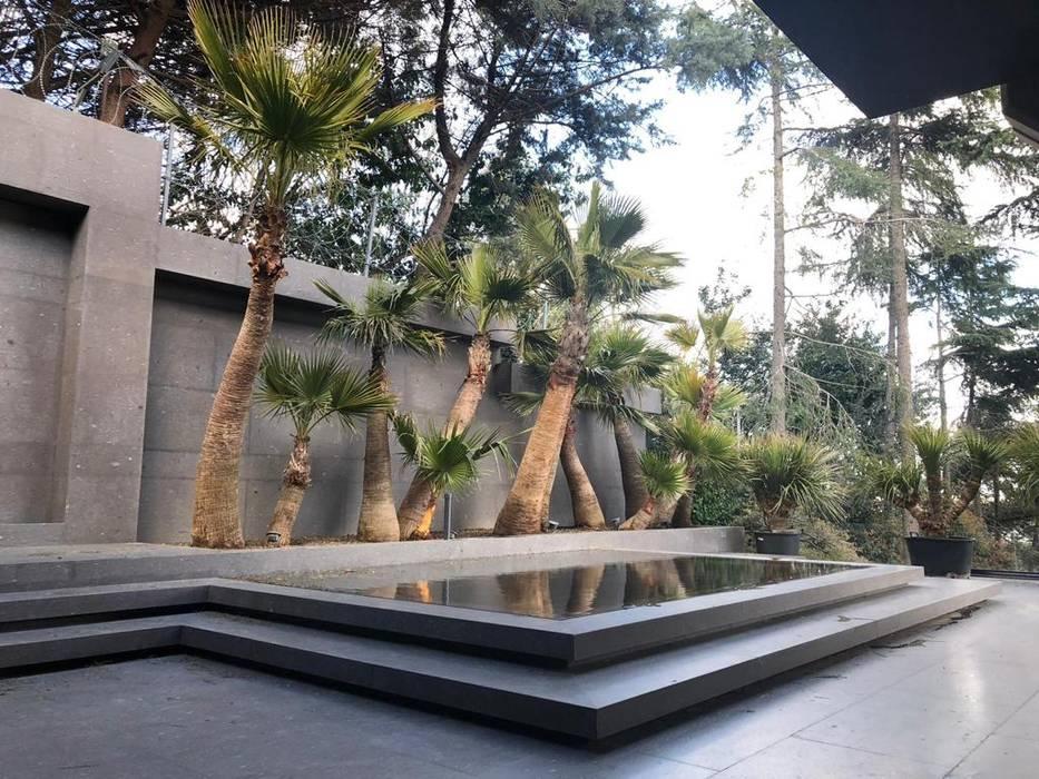 antrepo5 – HC GARDEN:  tarz Bahçe süs havuzu, Modern Kuvars