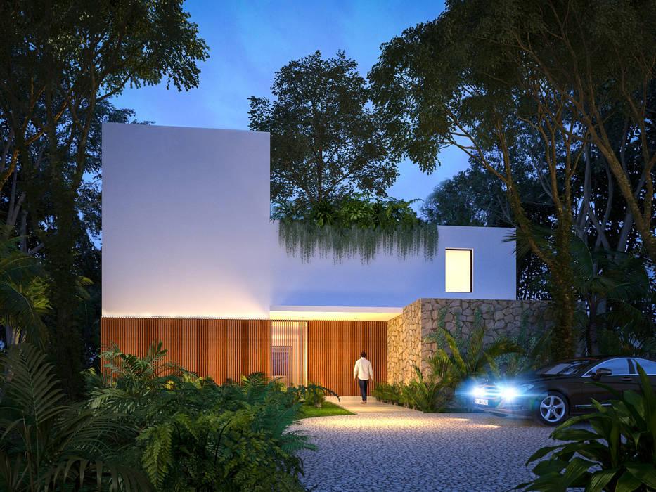 Casas unifamilares de estilo  de Manuel Aguilar Arquitecto